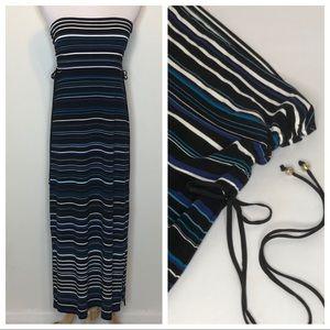 White House Black Market Striped Convertible Dress